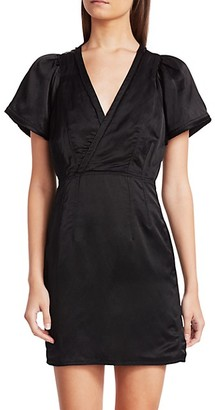 Derek Lam Surplice Strech-Linen Sheath Dress