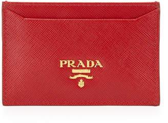 Prada Saffiano Flat Card Case