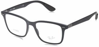 Ray-Ban 0rx7144 No Polarization Square Prescription Eyewear Frame Sand Grey 53 mm