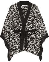 Equipment Elias Heart-print Washed-silk Robe - Black