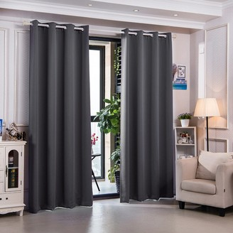Elegant Home Fashions Sparta Premium Insulated Thermal Blackout 84 in Dove Grey Set of 2