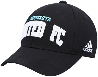 adidas Women's Black Minnesota United FC Wordmark Sparkle Snapback Hat