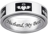 Claddagh Engraved Stainless Steel Spinner Band Ring