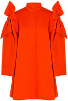 DELPOZO Neoprene Shoulder Bow Coat