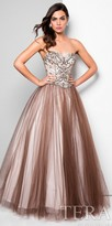 Terani Couture Two Tone Tulle Beaded Ball Gown