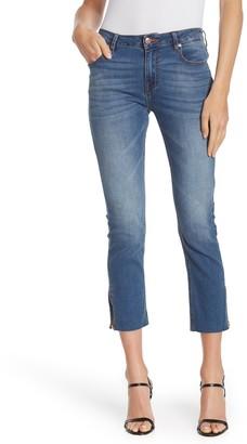 Vigoss Stevie Straight Crop Zip Hem Jeans