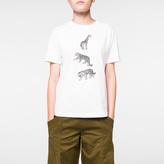 Paul Smith Women's White 'Animal' Print Cotton T-Shirt