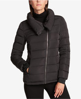 DKNY Asymmetrical Packable Puffer Coat