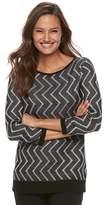 Dana Buchman Women's Zigzag Sweater