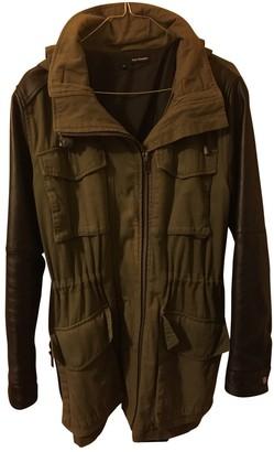 The Kooples Khaki Leather Coat for Women