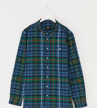 Burton Menswear Big & Tall shirt in green tartan