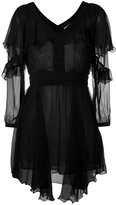 Just Cavalli asymmetric hem sheer dress - women - Polyester/Viscose - 40