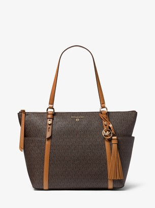 MICHAEL Michael Kors Nomad Large Logo Top-Zip Tote Bag