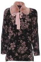 Elisabetta Franchi Women's Black/pink Wool Jumper.