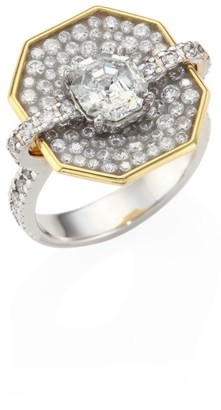 Plevé Opus Diamond & 18K White Gold Octagon Ring