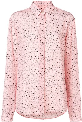 Saint Laurent Star-Print Long-Sleeve Shirt