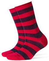 Burlington Metallic Striped Socks