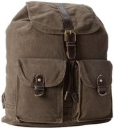 Fossil Estate Canvas Rucksack, Olive, One Size