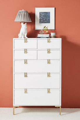 Anthropologie Ingram Seven-Drawer Dresser By in White Size ALL