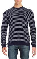 Black Brown 1826 Striped Cotton Pullover
