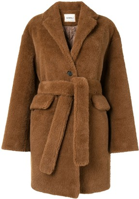 GOEN.J Single Breasted Shearling Coat