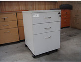 2 Drawer / 1 File Mobile Pedestal Filling Cabinet in Parchment