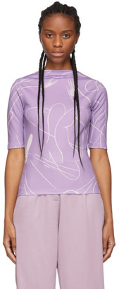 Daniëlle Cathari Purple Emblazoned T-Shirt