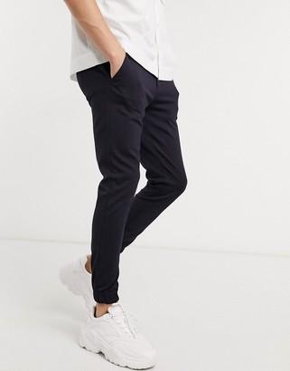 Devils Advocate elasticated super skinny cuffed trousers