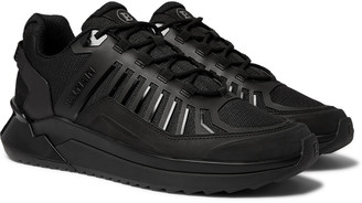 Balmain B-Trail Leather And Mesh Sneakers