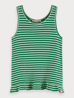 Scotch & Soda Striped Rib Knitted Tank Top | Girls