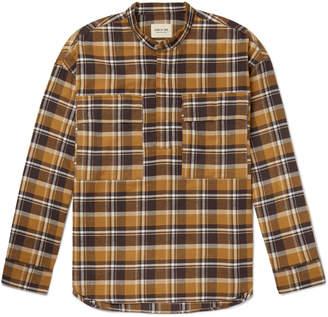 Fear Of God Grandad-Collar Checked Cotton-Flannel Half-Placket Shirt