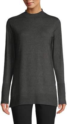 Isaac Mizrahi Imnyc Vented Mock Neck Sweater
