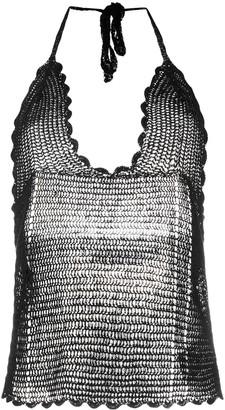 IRO crochet knit top