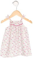 Petit Bateau Girls' Floral Print Sleeveless Dress