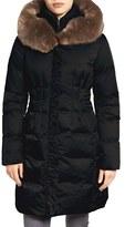 Tahari 'Audrey' Quilted Coat with Faux Fur Trim