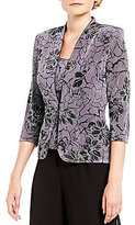 Alex Evenings Floral Printed Twinset