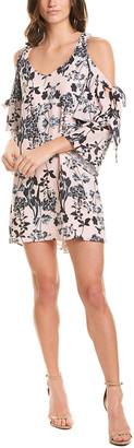 Parker Cold-Shoulder Shift Dress
