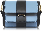 Marni Iris Blue and Black Leather Mini Trunk Bag