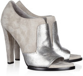 Alexander Wang Luisa suede and lizard-effect leather ankle boots
