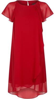 Adrianna Papell Chiffon Cascade Trapeze Dress