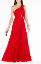 BCBGMAXAZRIA Gwendolyn One-Shoulder Pleated Gown
