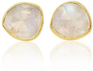 Monica Vinader Siren Stud Moonstone earrings