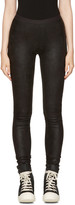 Rick Owens Black Leather Pants