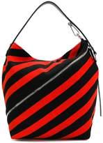 Proenza Schouler striped zipped hobo bag