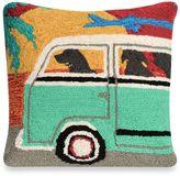 Liora Manné Frontporch Beach Trip Sunset Square Throw Pillow