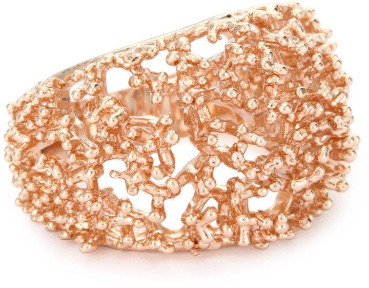 "Tuleste Market Always Tuleste"" 14k Rose Gold-Plated Branch Ring, Size 7"