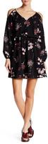 Dex Cold Shoulder Floral Print Dress