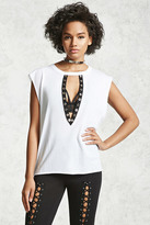 Forever 21 FOREVER 21+ Plunging Cutout Top