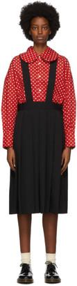COMME DES GARÇONS GIRL Black Wool Suspender Midi Skirt