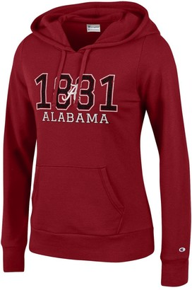 Champion NCAA Women's Comfy Fitted University Fleece Hoodie Alabama Crimson Tide Medium
